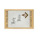 The Masonic Oath Rectangle Magnet (10 pack)
