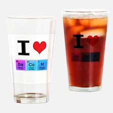 I Love Ba Co N Drinking Glass