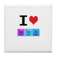 I Love Ba Co N Tile Coaster