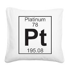 Element 78 - Pt (platinum) - Full Square Canvas Pi