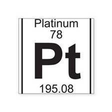 Element 78 - Pt (platinum) - Full Sticker
