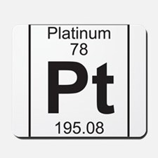 Element 78 - Pt (platinum) - Full Mousepad