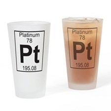 Element 78 - Pt (platinum) - Full Drinking Glass