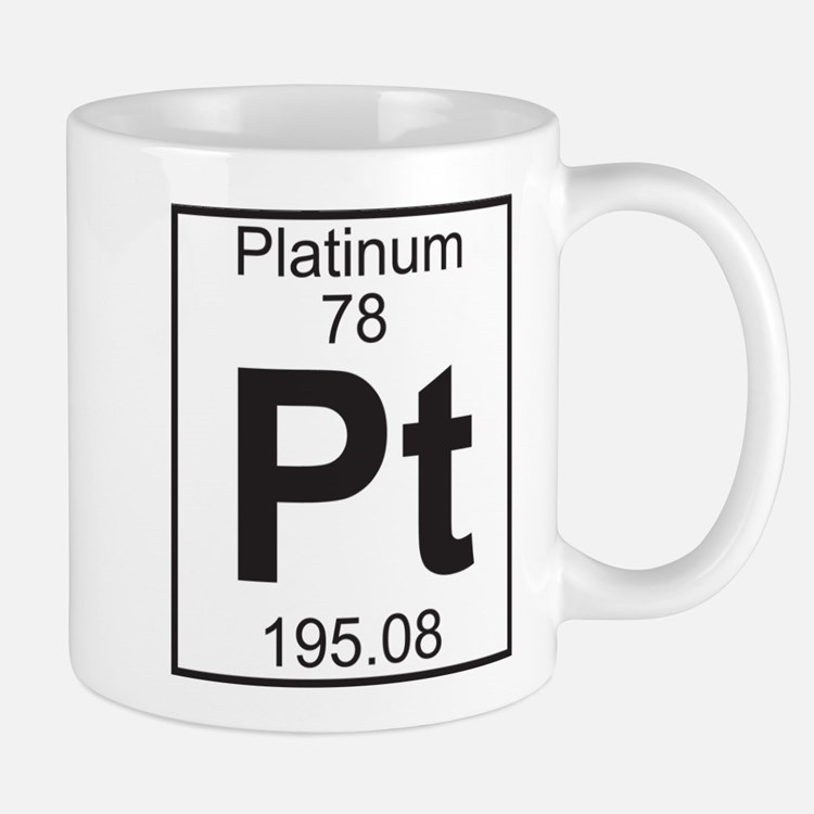 Element 78 - Pt (platinum) - Full Mug