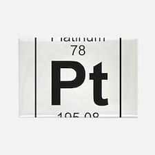 Element 78 - Pt (platinum) - Full Rectangle Magnet