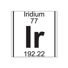 Element 77 - Ir (iridium) - Full Sticker