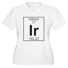 Element 77 - Ir (iridium) - Full Plus Size T-Shirt
