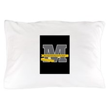 M Logo With Langston Hughes Quote Pillow Case