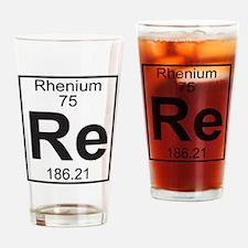 Element 75 - Re (rhenium) - Full Drinking Glass