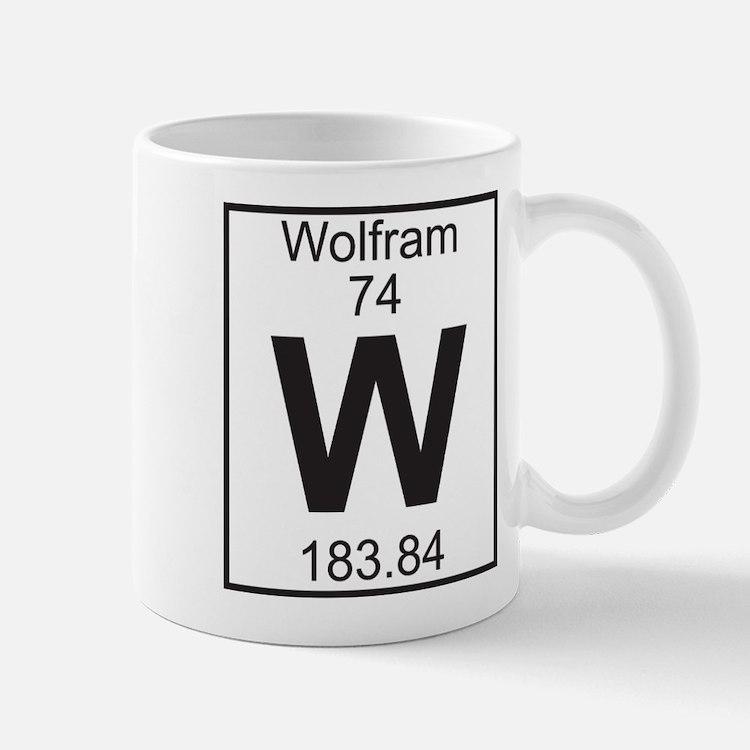 Element 74 - W (wolfram) - Full Mug