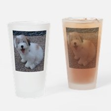 Cute Dog Drinking Glass
