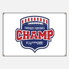 Concrete Football Champion Banner