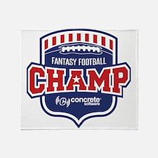 Concrete Football Champion Throw Blanket