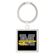 M Logo With Langston Hughes Quote Keychains