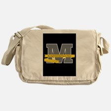 M Logo With Langston Hughes Quote Messenger Bag
