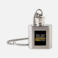 M Logo With Langston Hughes Quote Flask Necklace