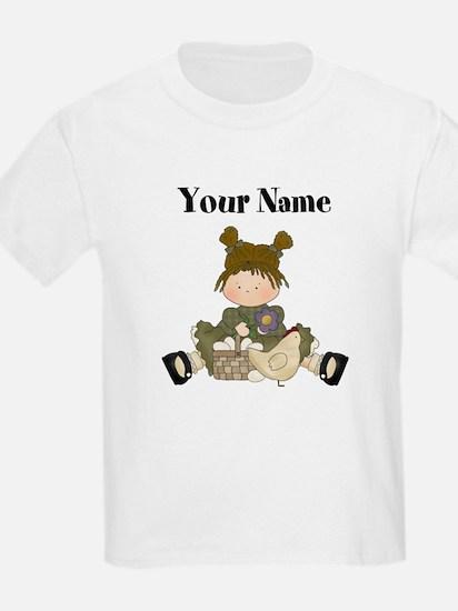 Little Girl with Chicken T-Shirt