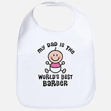 Best Barber Dad Bib