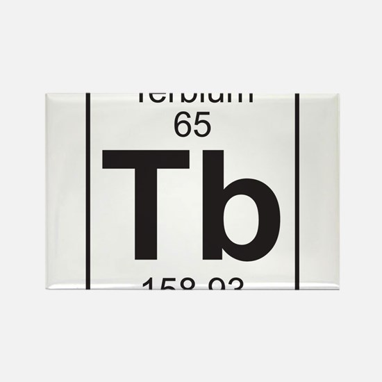 Element 65 - Tb (terbium) - Full Rectangle Magnet