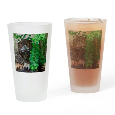 Great Horned Owl Drinking Glass