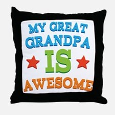 My Great Grandpa Is Awesome Throw Pillow