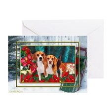 Beagle Christmas Watercolor Greeting Cards (Packag