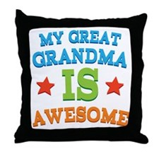 My Great Grandma Is Awesome Throw Pillow