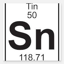"Element 050 - Sn (tin) - Full Square Car Magnet 3"""