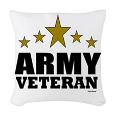 Army Veteran Woven Throw Pillow