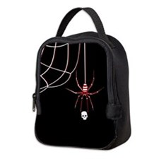 Spider Skull (kd) Neoprene Lunch Bag