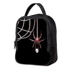 Spider Skull (kd) Neoprene Lunch Bag