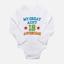 My Great Aunt Is Awesome Onesie Romper Suit
