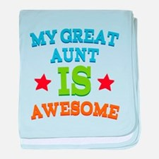 My Great Aunt Is Awesome baby blanket