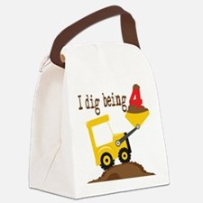 I Dig Being 4 Canvas Lunch Bag
