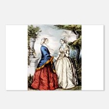 The sisters - 1848 Postcards (Package of 8)