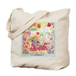 Farmer's Market Themed Ojai Grocery Tote Bag