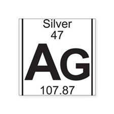 Element 47 - Ag (silver) - Full Sticker