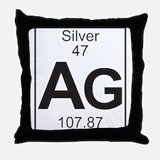 Element 47 - Ag (silver) - Full Throw Pillow