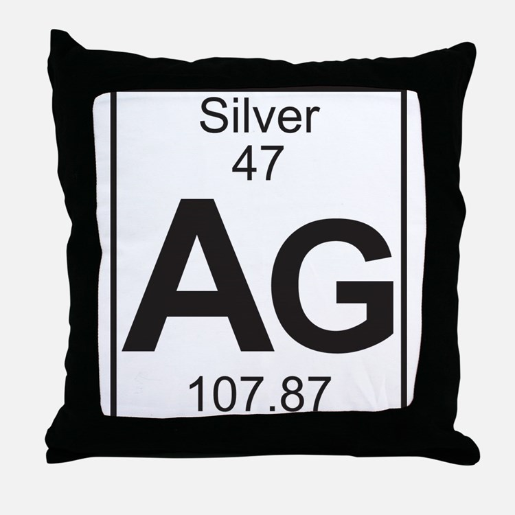 Element 47 - Ag (silver) - Full Throw Pillow