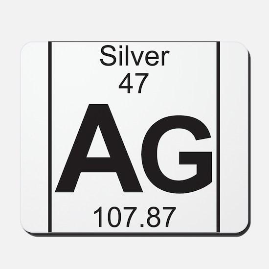 Element 47 - Ag (silver) - Full Mousepad