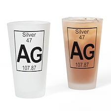 Element 47 - Ag (silver) - Full Drinking Glass