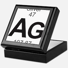 Element 47 - Ag (silver) - Full Keepsake Box
