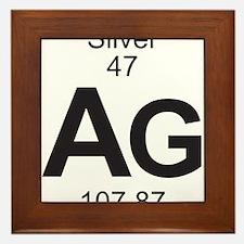 Element 47 - Ag (silver) - Full Framed Tile