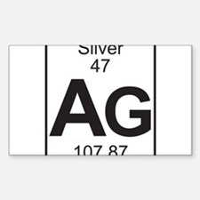 Element 47 - Ag (silver) - Full Decal