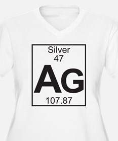 Element 47 - Ag (silver) - Full Plus Size T-Shirt