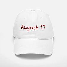 August 17 Baseball Baseball Cap