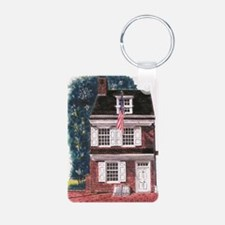 Betsy Ross House Aluminum Photo Keychain