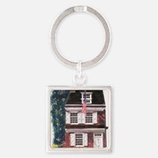 Betsy Ross House Square Keychain