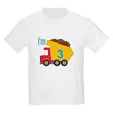 Dump Truck I'm 3 T-Shirt