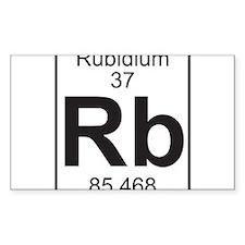 Element 37 - Rb (rubidium) - Full Decal